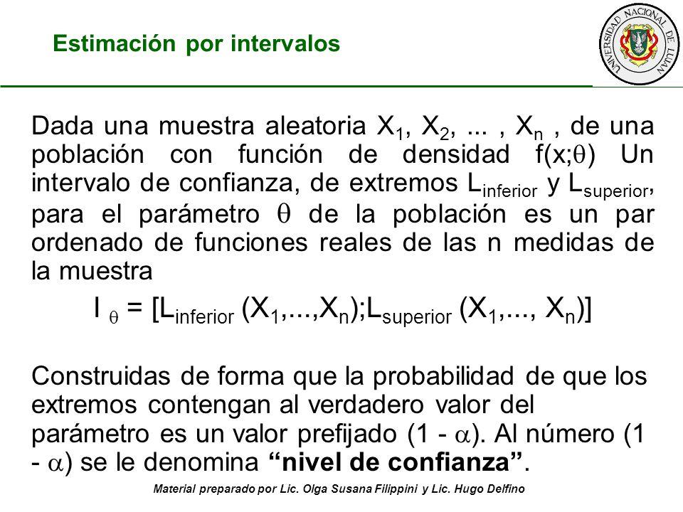 I  = [Linferior (X1,...,Xn);Lsuperior (X1,..., Xn)]